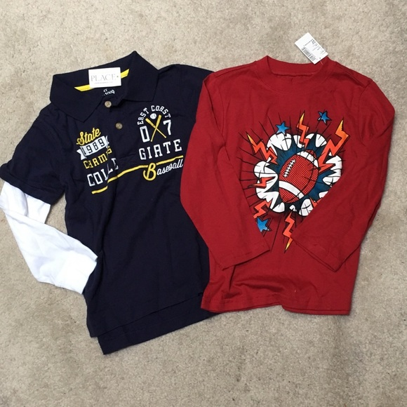 f30f5e8f8 The Children's Place Shirts & Tops | Nwt Set Of 2 Boys Tshirts ...